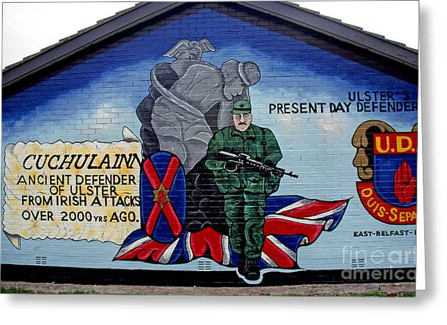 Loyalist Greeting Cards - Belfast Mural Greeting Card by Thomas R Fletcher