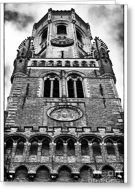 Town Square Greeting Cards - Belfry Design Greeting Card by John Rizzuto