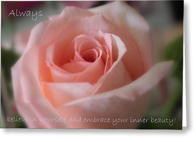 Believe in Yourself Card or Poster Greeting Card by Carol Groenen