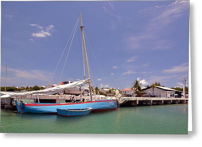 Belize Sailor Greeting Card by Ken  Collette