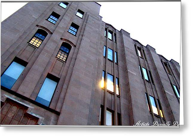 Bell Building Greeting Card by Danielle  Parent