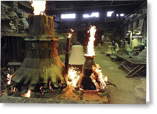 Bells Foundry Greeting Cards - Bell Foundry Greeting Card by Ria Novosti