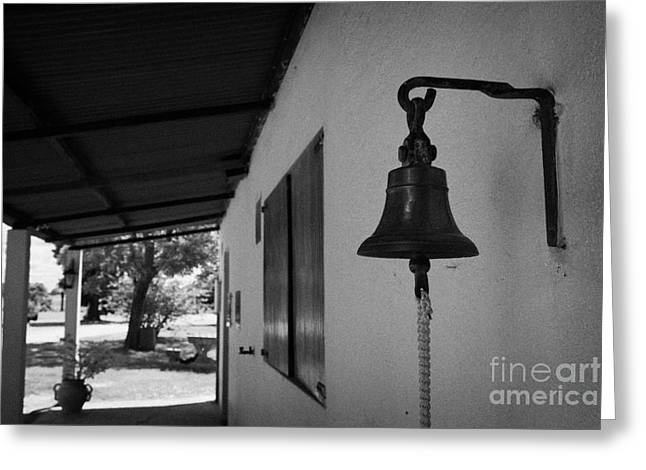 Granja Greeting Cards - bell outside a small historic typical farm in Colonia Del Sacramento Uruguay South America Greeting Card by Joe Fox