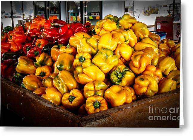 Hot Peppers Greeting Cards - Bell Peppers Greeting Card by Robert Bales