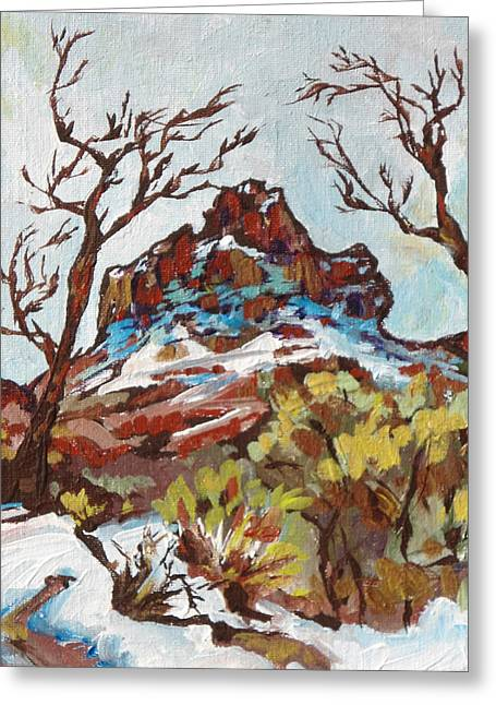 Oak Creek Greeting Cards - Bell Rock 3 Greeting Card by Sandy Tracey