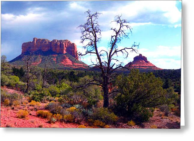 Bell Rock Greeting Cards - Bell Rock Panorama Greeting Card by Harvie Brown