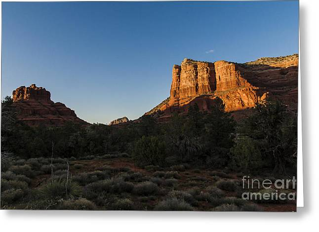 Bell Rock Greeting Cards - Bell Rock Sunset Greeting Card by Darcy Michaelchuk