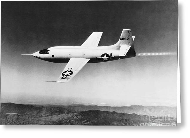 Jet Greeting Cards - Bell X-1 Greeting Card by Science Source
