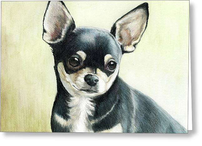Puppies Paintings Greeting Cards - Bella Greeting Card by Charlotte Yealey