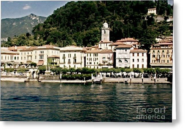 Seaside Digital Art Greeting Cards - Bellagio in Italy Greeting Card by Marsha Heiken