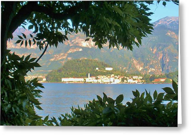Bellagio Greeting Cards - Bellagio Thru the Trees Greeting Card by Marilyn Dunlap