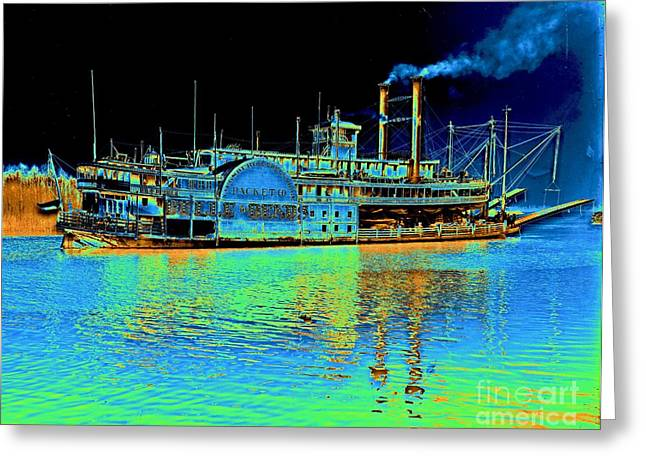 'belle Of The Bends' Steamboat 1906 Greeting Card by Padre Art
