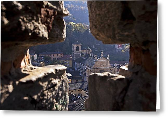 Bellinzona Greeting Card by Joana Kruse