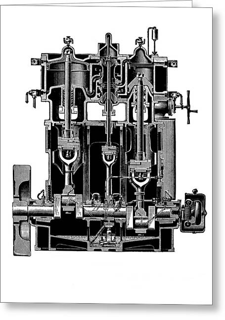 Bellis Greeting Cards - Bellis And Morcom Steam Engine Greeting Card by Mark Sykes