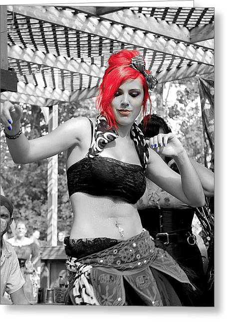 Renaissance Festival Greeting Cards - Belly Dancer 2 Greeting Card by Scott Hovind