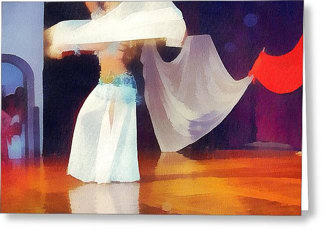 Bellydancer Greeting Card by Odon Czintos