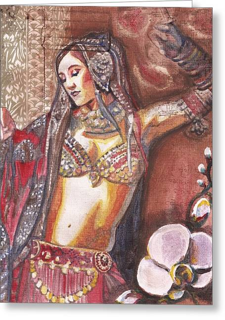 Tribal Belly Dance Greeting Cards - BellyDancer Greeting Card by Stephanie Bolton