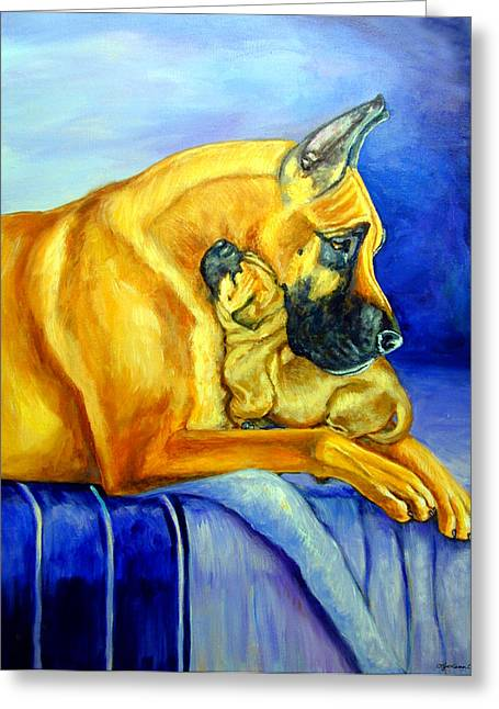 K9 Greeting Cards - Belonging Greeting Card by Lyn Cook
