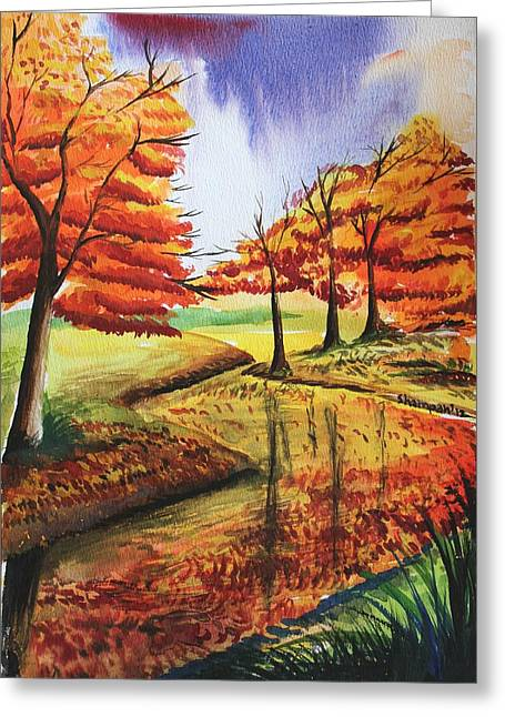 Shakhenabat Kasana Greeting Cards - Beloved Autumn Greeting Card by Shakhenabat Kasana