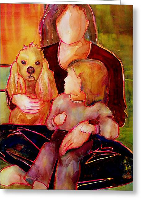 Childs Dog Greeting Cards - Beloved Greeting Card by Blenda Studio