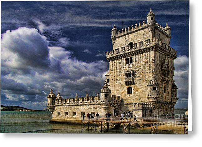Lisbon Greeting Cards - Belum Tower in Lisbon Portugal Greeting Card by David Smith