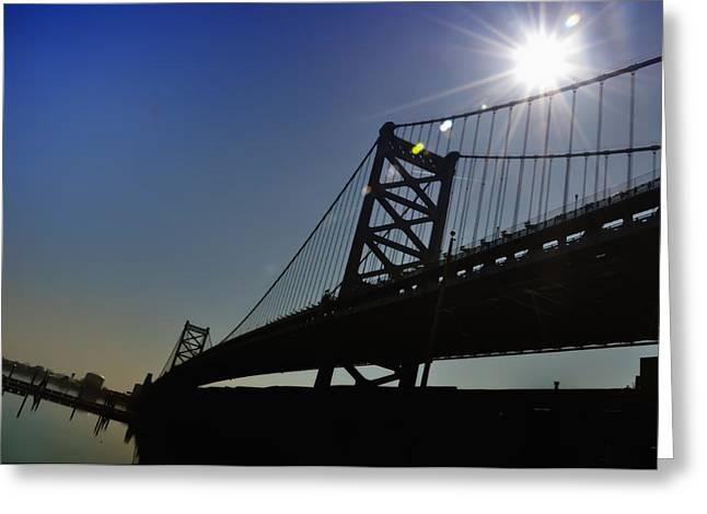 Philadelphia Photographs Greeting Cards - Ben Franklin Bridge 2 Greeting Card by Bill Cannon