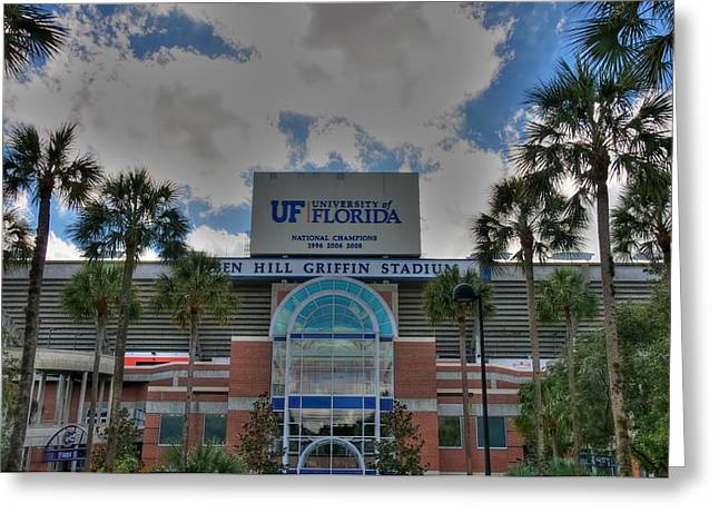 Florida Gators Digital Art Greeting Cards - Ben Hill Griffin Stadium Greeting Card by Dean Traiger