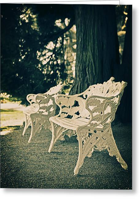 Recently Sold -  - Pause Greeting Cards - Benches Greeting Card by Joana Kruse