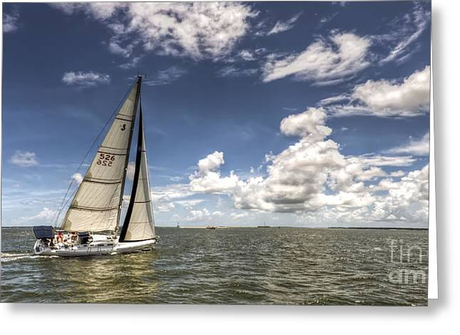 7 Greeting Cards - Beneteau first 40.7 Greeting Card by Dustin K Ryan