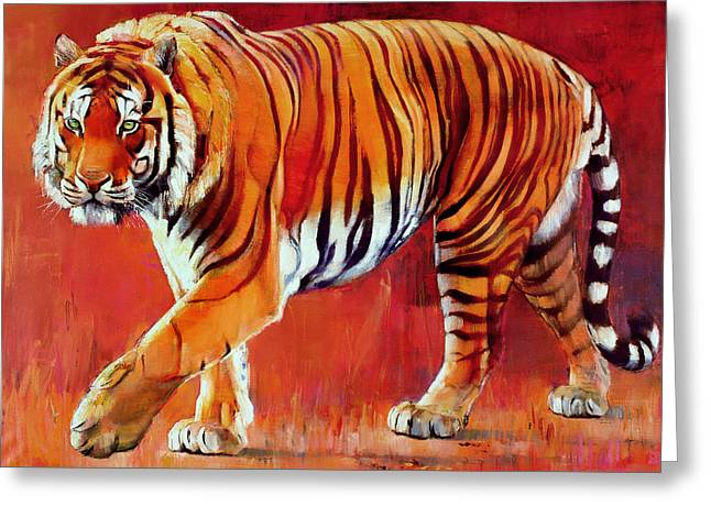 Cat Greeting Cards - Bengal Tiger  Greeting Card by Mark Adlington