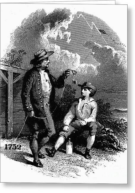 1752 Greeting Cards - Benjamin Franklin (1706-1799) Greeting Card by Granger