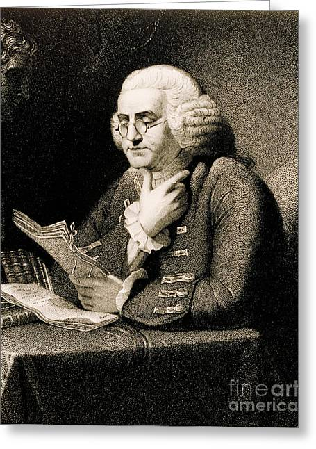 Second Continental Congress Greeting Cards - Benjamin Franklin, American Polymath Greeting Card by Science Source