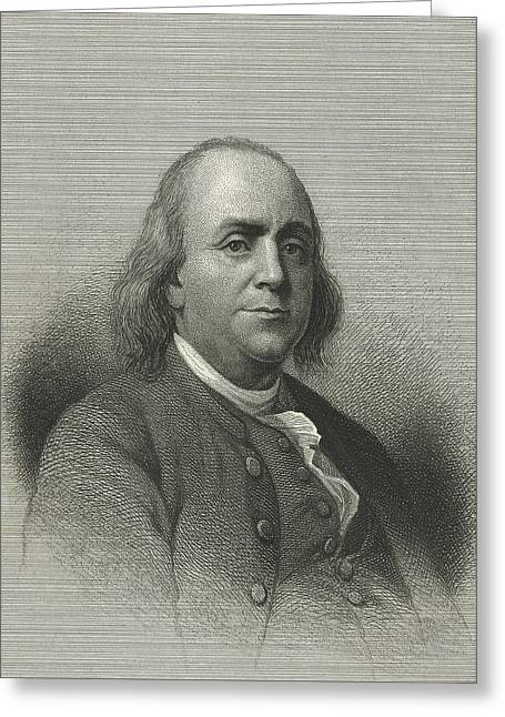 Signatories Greeting Cards - Benjamin Franklin, Us Scientist Greeting Card by Science, Industry & Business Librarynew York Public Library