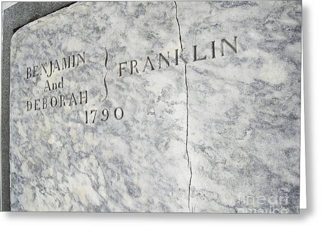 Benjamin Franklin's Grave Greeting Card by Snapshot  Studio