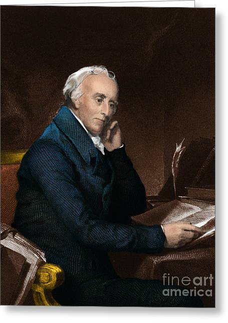 Signatories Greeting Cards - Benjamin Rush Greeting Card by Science Source