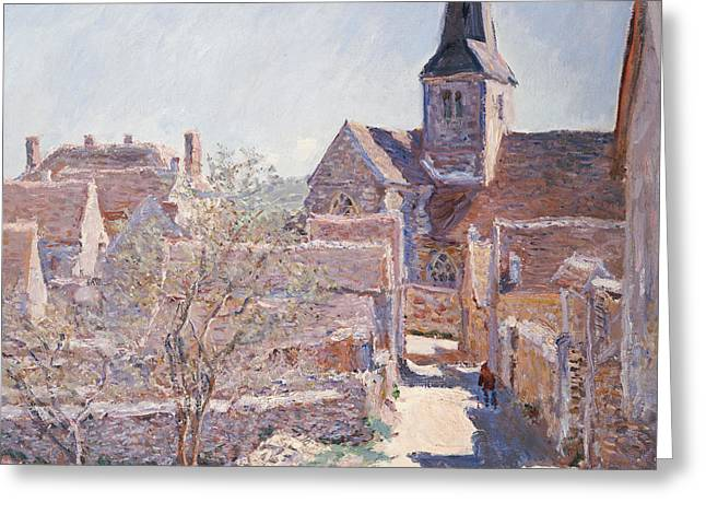 Bennecourt Greeting Card by Claude Monet
