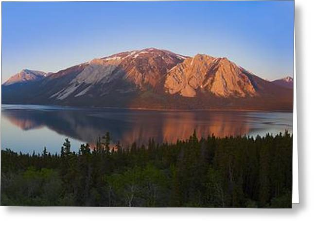 Klondike Gold Rush Greeting Cards - Bennett Lake And Nares Lake Carcross Greeting Card by Blake Kent