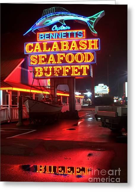 Photographers Decatur Greeting Cards - Bennetts Calabash Seafood Buffet Myrtle Beach Greeting Card by Corky Willis Atlanta Photography