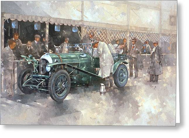 Old Timer Greeting Cards - Bentley Old No.7 Greeting Card by Peter Miller