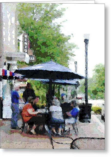 Old Home Place Greeting Cards - Bentonville On The Square Greeting Card by Ann Powell