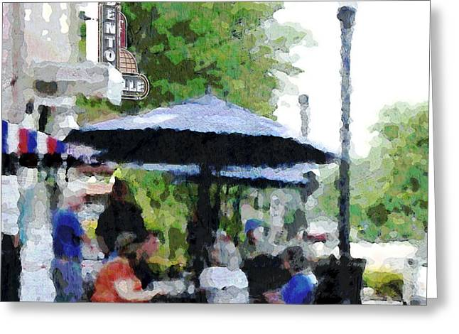 Bentonville On The Square Greeting Card by Ann Powell