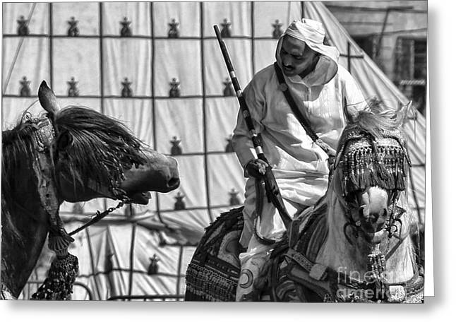Berber BW Greeting Card by Chuck Kuhn