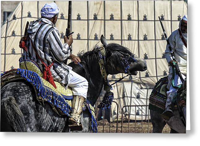 Berber Festival Greeting Card by Chuck Kuhn