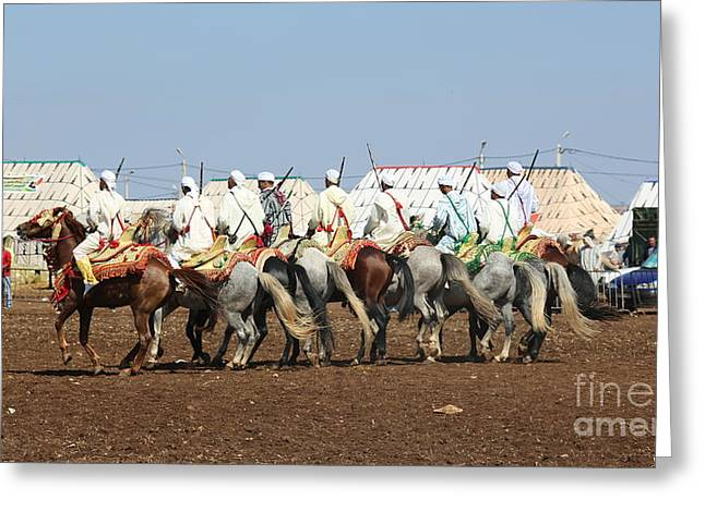 Berber Festival IIi Greeting Card by Chuck Kuhn
