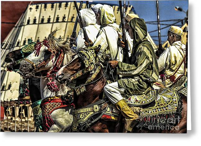 Berber Soldiers Greeting Card by Chuck Kuhn