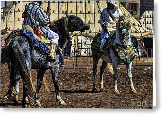 Berbers Morocco Greeting Card by Chuck Kuhn
