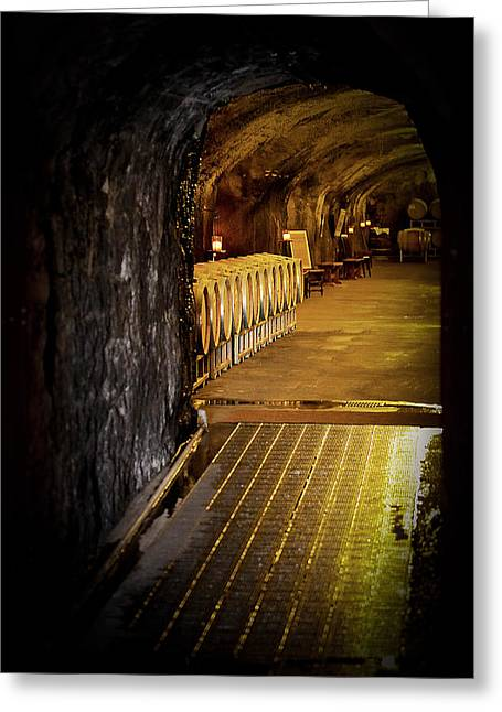 Napa Valley Canvases Greeting Cards - Beringer Cave Greeting Card by Mary Solberg