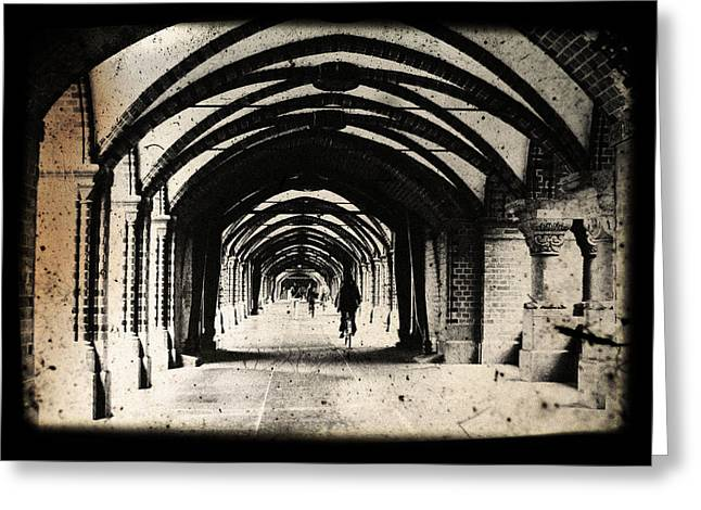 Layers Greeting Cards - Berlin Arches Greeting Card by Andrew Paranavitana