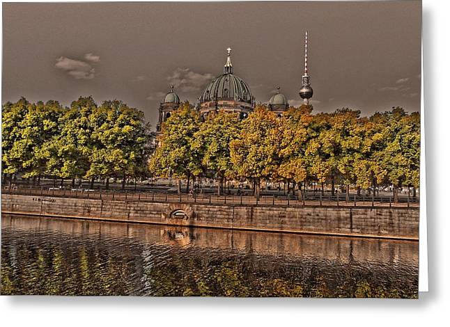 Hauptstadt Greeting Cards - Berlin Cathedral ... Greeting Card by Juergen Weiss