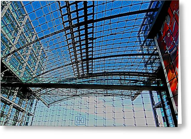 Himmel Greeting Cards - Berlin Central Station ...  Greeting Card by Juergen Weiss